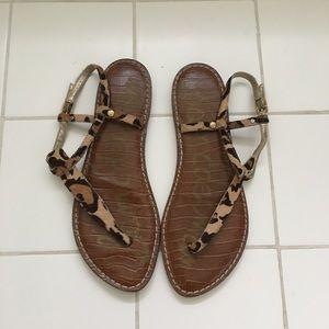 Sam Edelman Gigi calf hair leopard sandals